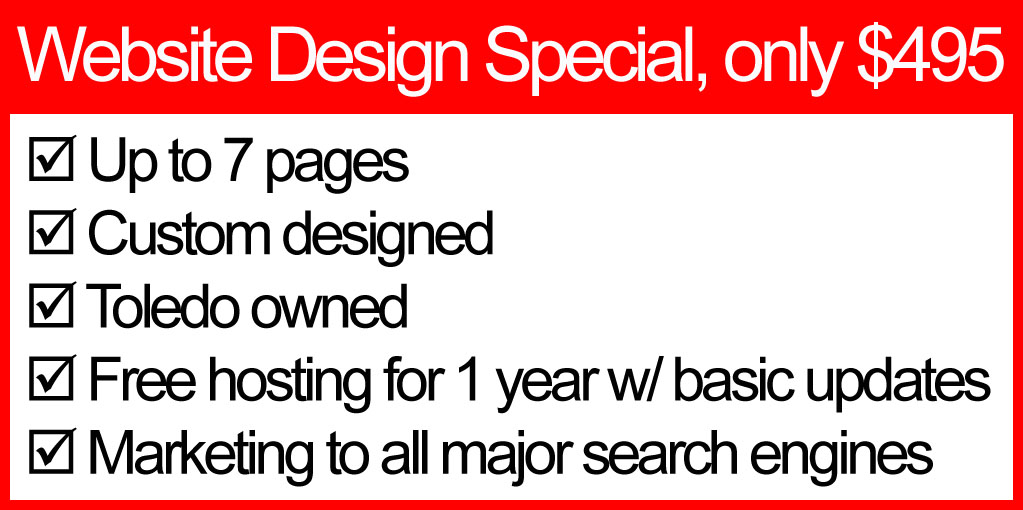 $500 website special with features